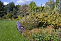Garden path. English garden view at September Stock Photography