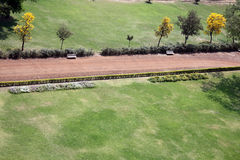 Garden Path. An aerial view of a path in an old garden around a fort in India Stock Photos