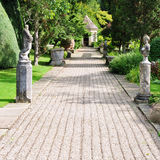 Garden Path. Pebble Path in a Beautiful English Landscape Garden Royalty Free Stock Photography