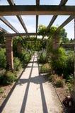 Garden Path. Within a large english garden royalty free stock photo