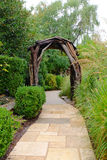 Garden Path and Arbor Stock Photos