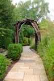 Garden Path and Arbor Stock Photos
