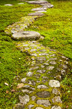 Garden path paved with big stones Royalty Free Stock Image