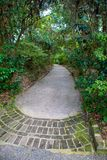 Secluded Garden Path stock photo