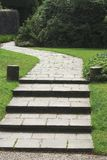 Garden path with steps. England Royalty Free Stock Photos