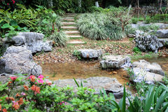 Garden path. Stone path in a Chinese Garden Stock Image