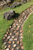 Garden path with stone Royalty Free Stock Photography