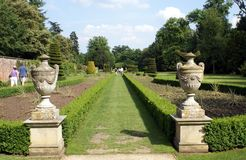 Garden path, Cliveden, Buckinghamshire, England Royalty Free Stock Photography