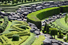 Garden path with topiary landscape Royalty Free Stock Photos
