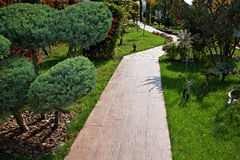 Garden pathway Royalty Free Stock Images