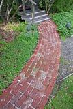 Garden Pathway. A garden pathway leading to an entrance Royalty Free Stock Photos