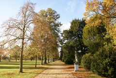 Garden pathway in Autumn Stock Photography