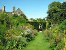 Garden pathway. outdoor view Royalty Free Stock Photography