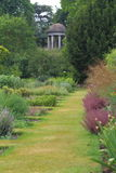 Garden pathway And temple At Kew Royalty Free Stock Image