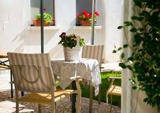Garden patio Stock Photography