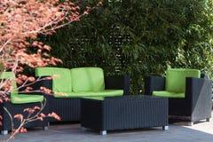 Garden patio royalty free stock photography