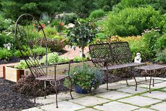 Garden Patio Royalty Free Stock Photos