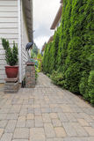 Garden Patio and Brick Path Hardscape Royalty Free Stock Photos