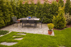 Garden Patio Stock Photography