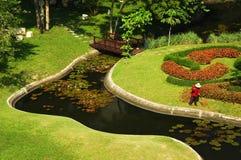 Garden in Pattaya. In Thailand stock photo