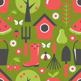 Garden pattern seamless Royalty Free Stock Photo