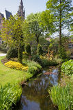 Garden of the Peace Palace in Den Haag Royalty Free Stock Image