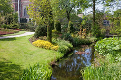 Garden of the Peace Palace in Den Haag Stock Image