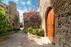 Garden in Peratallada, Spain Royalty Free Stock Photos