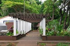 Garden pergola  Stock Image