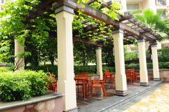 The garden pergola Stock Photo