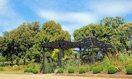 Garden pergola trellis frame Royalty Free Stock Image
