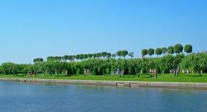 Garden of Peterhof Royalty Free Stock Images