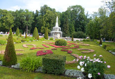 Garden of Peterhof Royalty Free Stock Images