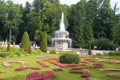 Garden of Peterhof. Garden and fountain of Peterhof, Russia Royalty Free Stock Images