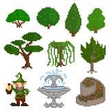 Garden pixelart Royalty Free Stock Photo