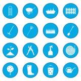 16 garden plain icon blue. Isolated vector illustration Stock Photo
