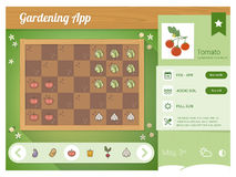 Garden planner app Royalty Free Stock Image