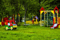 A garden playground activity baby childhood Stock Photography