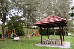 Garden Playground. A colourful children playground equipment Royalty Free Stock Photos