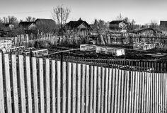 Garden Plots and Fencing Stock Images