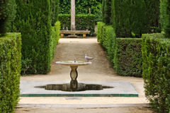 Garden of the Poets. Alcazar Palace, Seville Royalty Free Stock Images