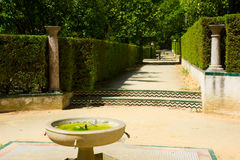 Garden of the Poets, Alcazar Palace, Seville Royalty Free Stock Photos