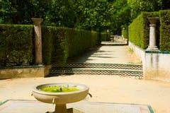 Garden of the Poets, Alcazar Palace, Seville Royalty Free Stock Photos