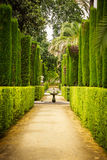 Garden of the Poets in Alcazar, Sevilla Royalty Free Stock Photos