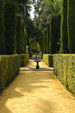 Garden of the poets in the Royal Alcazar stock image