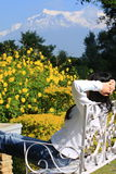 Garden,pokhara,Nepal royalty free stock photo
