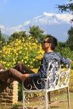 Garden,pokhara,Nepal Royalty Free Stock Image