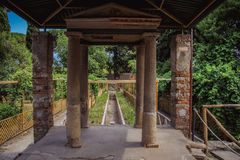 Garden at Pompei Royalty Free Stock Photography
