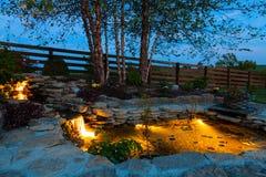 Garden pond royalty free stock image