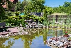 Garden pond Royalty Free Stock Photo